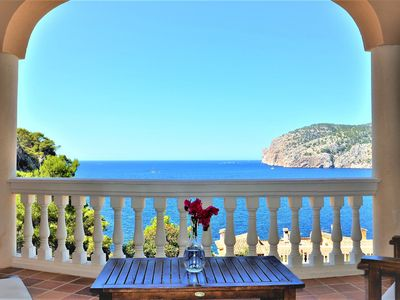 Photo for CA TOTHOM- Sea views villa8 pax with private pool in Camp de Mar, 4 rooms, BBQ -95945- - Free Wifi