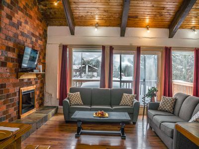Photo for 5 bdrm Chalet at the base of Blue Mountain, Outdoor Hot Tub, mountain views