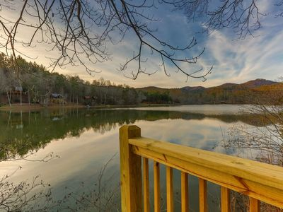 Photo for Mountain and lake views offer the best of both worlds at Lakeside Retreat! Not pet-friendly.
