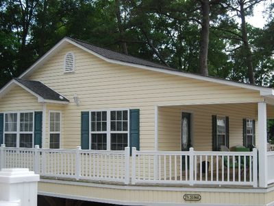 Photo for Ocean Lakes 3 Bed, 2 Bath with golf cart Home With Large Covered Deck Sleeps 8