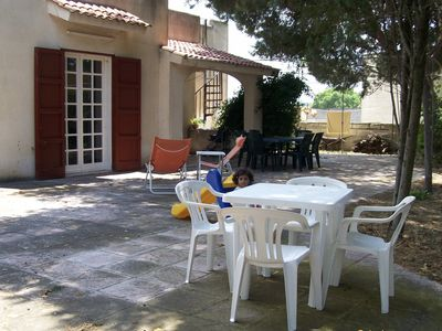 Photo for Small villa in the green suitable for families with children at 200mt from the sea