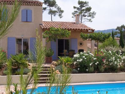 Photo for Detached comfortable villa with private pool located on a villa park with a golf course