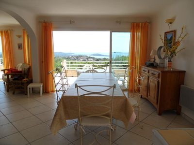 Photo for Pool-villa with panoramic view Porto Vecchio Gulf (AC 2014)