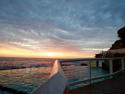 Photo for Bronte beach front with huge terrace, overlooking tranquil private gardens