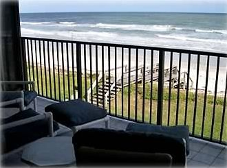 Our balcony looking at the ocean