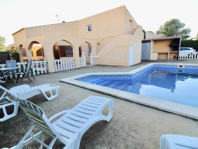 Photo for House secure private pool barbecue Wifi At the foot of the beach in Calafat