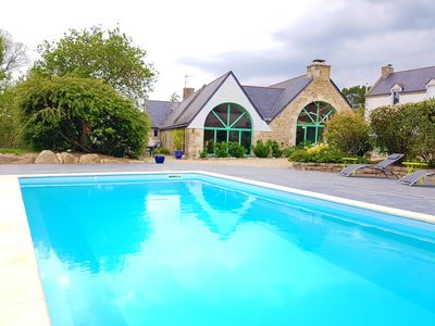 Photo for Authentic cottage between beaches and countryside with pool