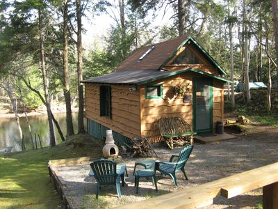 Photo for Riverfront Cabin for Two, Perfect Getaway!  Summer-  Weekly only  Sat. to Sat.