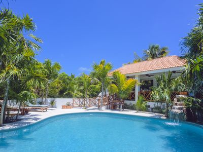 Photo for Amazing Beachfront Villa, Ocean Views, Heated Pool & Coconut Garden Oasis