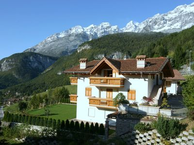 Photo for Single villa in a privileged position overlooking the lake and the Brenta Dolomites ****