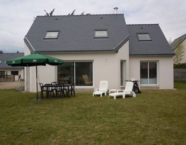 Photo for LOCMARIAQUER, new house, sleeps 6, the town and beaches 8 min. by bike