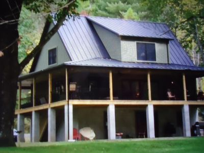 Photo for Enjoy Pine Creek and the PA. Rail Trail... steps from this brand new cabin...