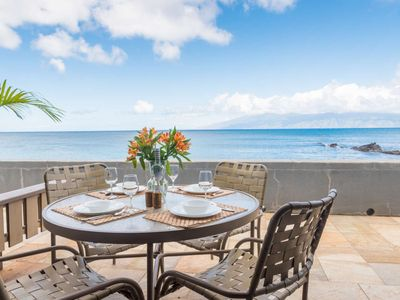 Photo for Great Fall Break Escape!  Beachfront - Keoni Nu'i Bay right outside your door + Sleeps 6!