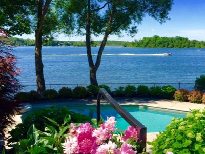Photo for Puslinch Lake Waterfront Cottage with Pool