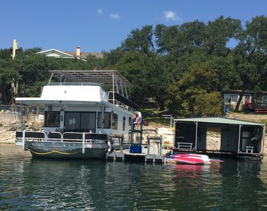 Photo for Lake Travis Houseboat Paradise