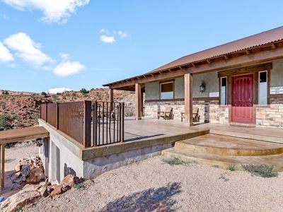 Photo for Rustic-modern home w/ gorgeous night sky views, perfect for large groups!
