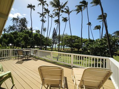 AWESOME 2ND STORY HUGE LANAI OVER LOOKING LAWN WITH OCEAN VIEWS-GREAT SUNSETS