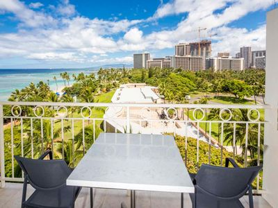 Photo for Luxe Beach Studio w/Ocean View, Modern Kitchenette, Free WiFi–Waikiki Shore #814
