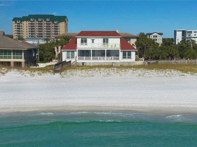 Photo for Holiday Blitz - Gulf Front, Private Pool, Pet Friendly, Free Beach Service!