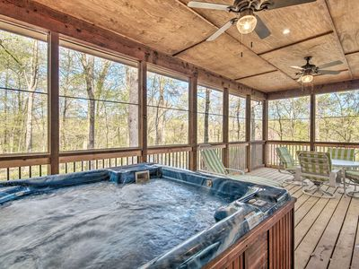 Photo for Private Cabin on 23 Acres w/Creek Access+Fire Pit