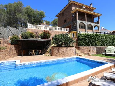 Photo for Villa Del Cel, great pool, A/C, billard & ping pong, quiet location near Sitges