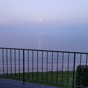 Moon over Lake Michigan from the deck