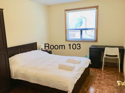 Photo for Near Pearson Airport Subway 1 Queen Bed Free Breakfast-Room 103