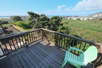 2nd floor bedroom deck - Ocean View and green space. Close to casino.