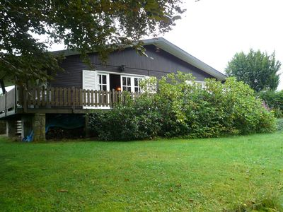 Photo for Detached chalet with views of the lake of Butgenbach in the middle of nature
