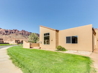 Photo for Spectacular views of the Moab Rim w/shared seasonal pool & hot tub