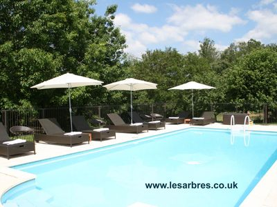 Photo for Stylish gites in Perigord Limousin Nature Park with huge garden & heated pool