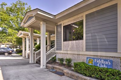 The condo boasts 2 bedrooms, 2 bathrooms, and all the comforts of home.