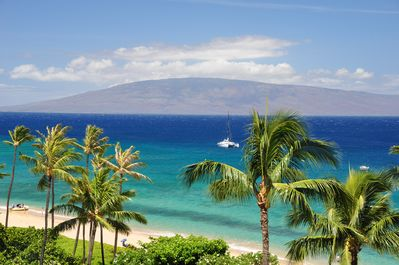 Our balcony view of the island do Lanai