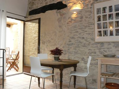 Dining area, opening onto the terrace