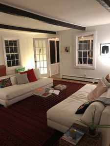 """Photo for Relaxing Bellport """"Piano"""" Farmhouse with New Pool & Upgrades"""