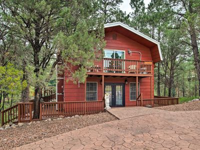Photo for NEW! Ruidoso Downs Cabin w/Deck-Mins to Race Track