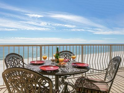 Photo for Luxury 3BD/2 BA Beachfront Condo - Top 6th Floor, West Corner - 18 Unit Building so Less Crowds, Picard Realty Rental
