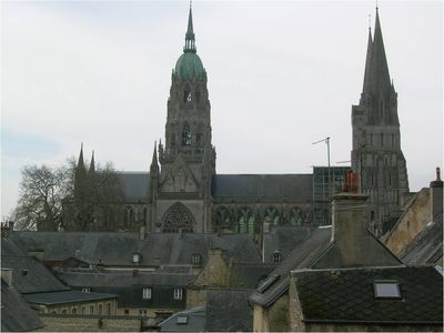 Photo for Flat in Bayeux historic center with view of Cathedral