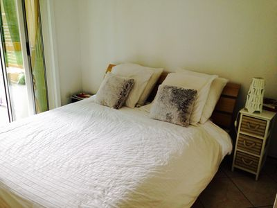 Photo for 3 p with garden 800m from the beach. Ideal families. / internet in WIFI