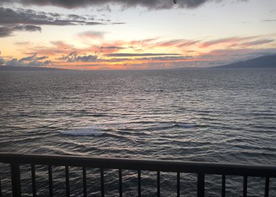 Sun setting - View sunsets and the islands of Lanai and Molokai from your very own lanai.