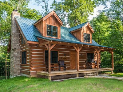 Photo for Cozy Dog Vacation Log Cabin