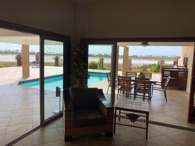 Photo for Walk to beach, Amazing villa with views of the beach area
