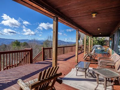 Photo for Mountain Home with Beautiful Views, Hot Tub, Pool Table, Foosball Table, King Suites!