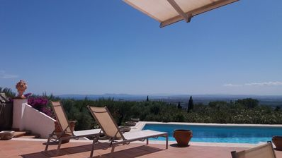 Photo for villa with impressive views over the bay of Roses & Plain Ampurd