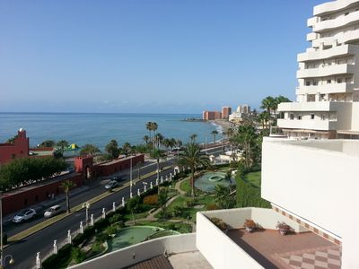 Photo for Stunning apartment fully equipped at Benal Beach Complex with sea view