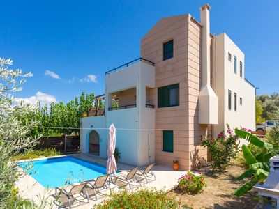 Photo for Villa Olive: Large Private Pool, Sea Views, A/C, WiFi