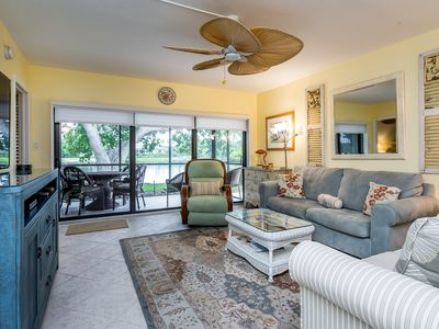 Photo for 1st Floor corner 2 /Bed 2 Bath on Dolphin Course overlooking lake to 9th green