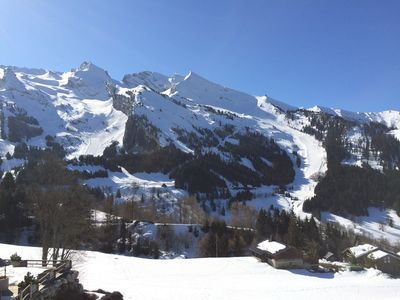 Photo for La Clusaz Ski Apartment, 3***south facing with glorious mountain views + balcony