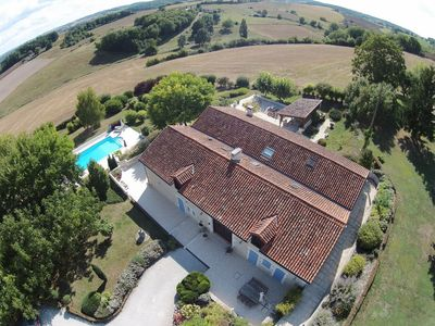 Photo for Luxury holiday home for large groups with privacy, space, swimming pool and sauna,