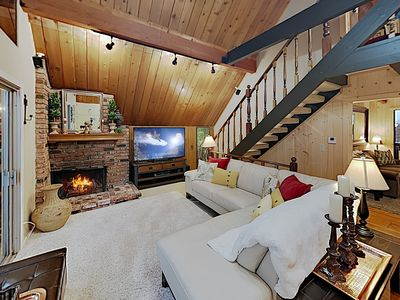 Photo for Family-Friendly Cabin w/ Private Hot Tub, 2 Fireplaces & Game Room